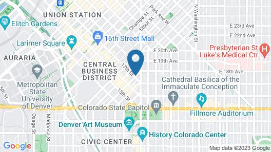 Holiday Inn Express Denver Downtown, an IHG Hotel Map