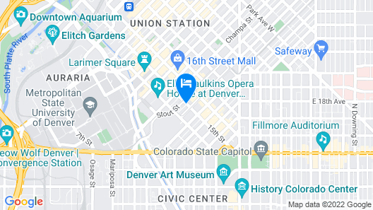 AC Hotel by Marriott Denver Downtown Map