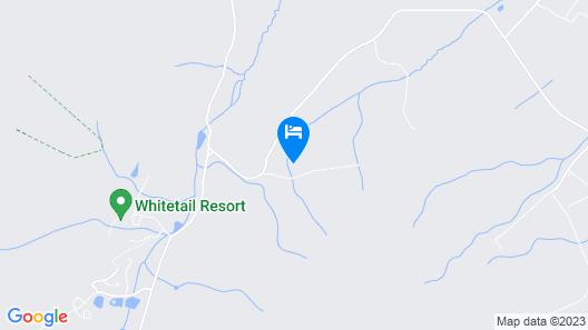 1 Mile to Whitetail Resort - Mercersberg A Frame! Map
