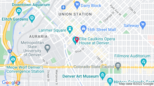 The Curtis Denver - a DoubleTree by Hilton Hotel Map