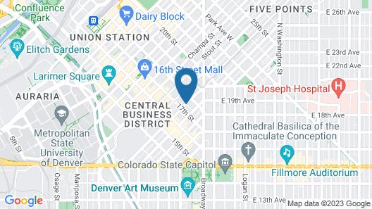 Grand Hyatt Denver Map