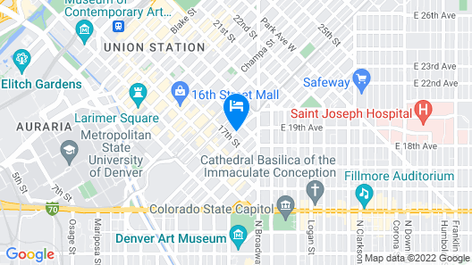 Grand Hyatt Denver Map