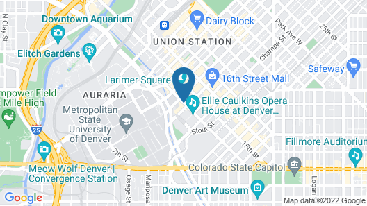 Four Seasons Hotel Denver Map