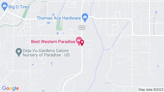 Best Western Paradise Hotel Map