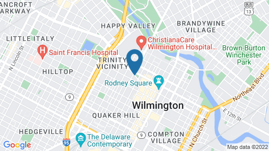 Sheraton Suites Wilmington Downtown Map