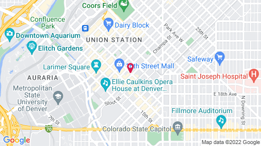 Renaissance Denver Downtown City Center Hotel Map
