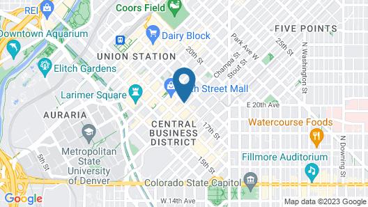 Renaissance Denver Downtown City Center Hotel Map