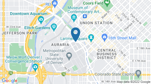 SpringHill Suites by Marriott Denver Downtown Map