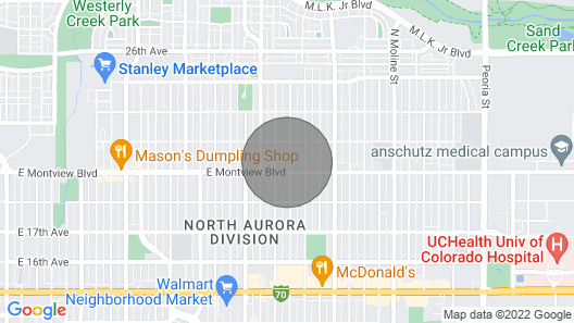 15 Minutes to D.i.a or Downtown Shopping Map
