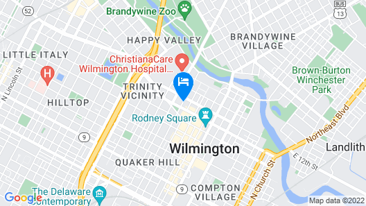 Courtyard by Marriott Wilmington Downtown Map