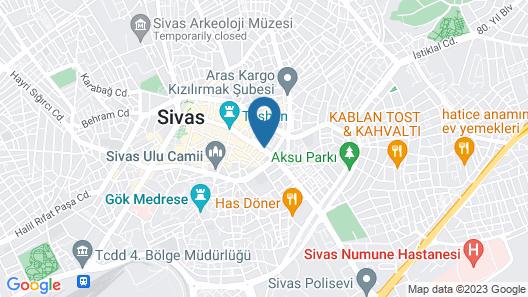 Sivas Revag Hotel Map