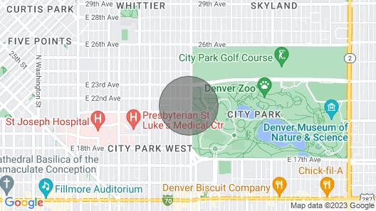 Denver Apt. w/ Hot Tub - Steps to City Park! Map