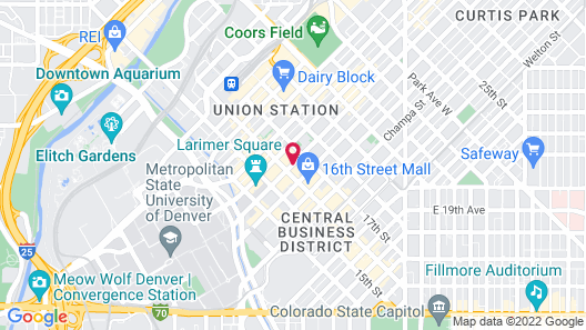 The Westin Denver Downtown Map