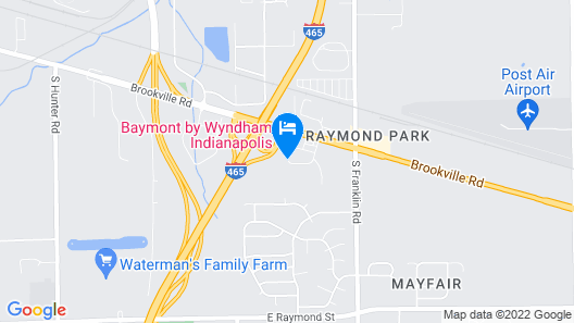 Baymont by Wyndham Indianapolis Map