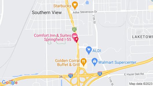 Comfort Inn & Suites Springfield I-55 Map