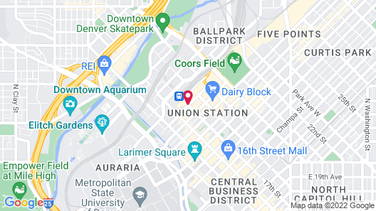 The Crawford Hotel Map