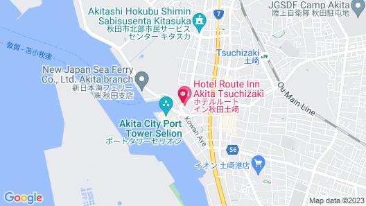 Hotel Route-Inn Akita Tsuchizaki Map