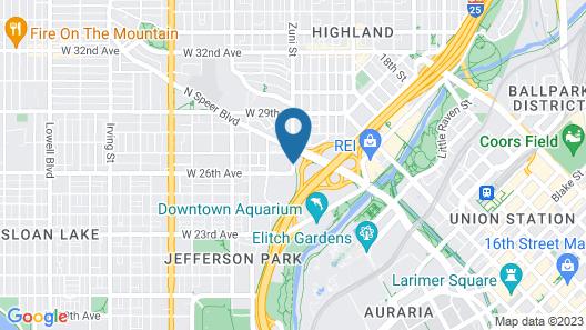 Rodeway Inn Denver Downtown Map