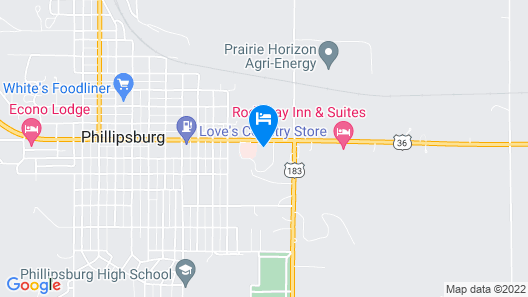 Cottonwood Inn Map