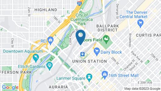 Mint House Downtown Denver Map