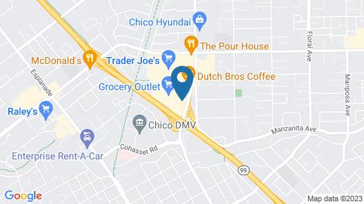 Best Western Heritage Inn - Chico Map