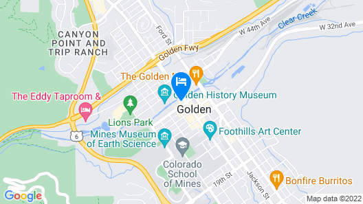 The Golden Hotel, Ascend Hotel Collection Map