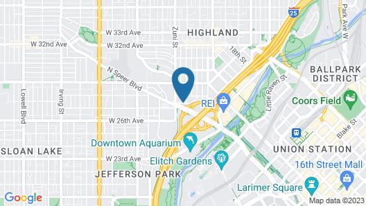 Fairfield Inn & Suites by Marriott Denver Downtown Map