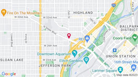 Hampton Inn & Suites Denver-Speer Boulevard Map