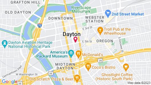 Crowne Plaza Dayton, an IHG Hotel Map