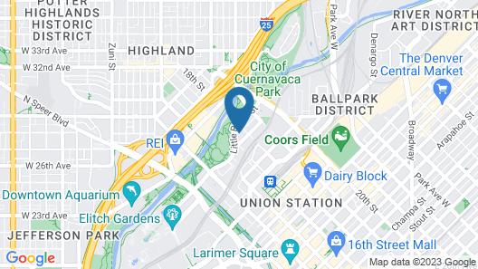 Kasa Denver Union Station Apartments Map