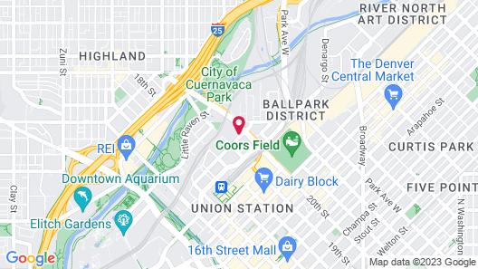 Hilton Garden Inn Denver Union Station, CO Map