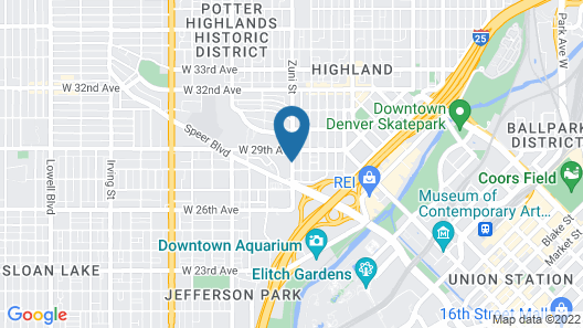 Residence Inn by Marriott Denver Downtown Map