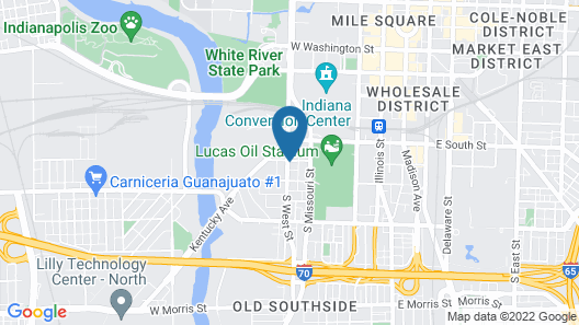 Holiday Inn Indianapolis Downtown, an IHG Hotel Map