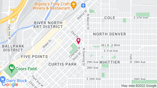 The Mile High Escape in Curtis Park Map