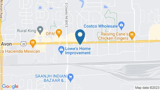 Comfort Inn Avon - North Indianapolis Map