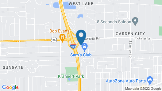 Motel 6 Indianapolis, IN - Airport Map