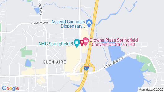 Crowne Plaza Springfield, an IHG Hotel Map
