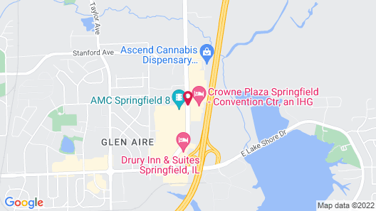 Crowne Plaza Springfield Map