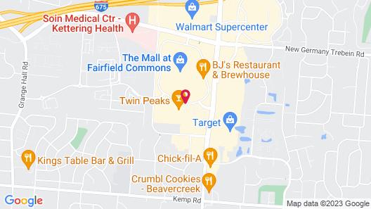 SpringHill Suites by Marriott Dayton Beavercreek Map