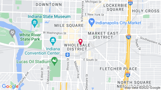 Hyatt House Indianapolis Downtown Map