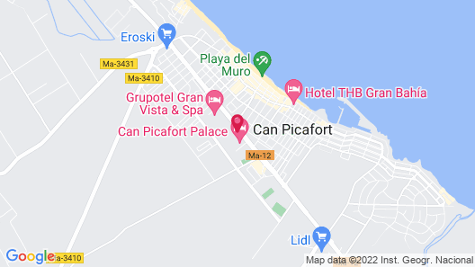 Can Picafort Palace Map