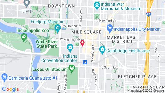 Hyatt Regency Indianapolis Map