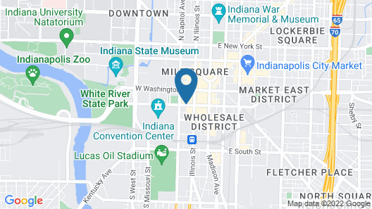 Hyatt Regency Indianapolis Map