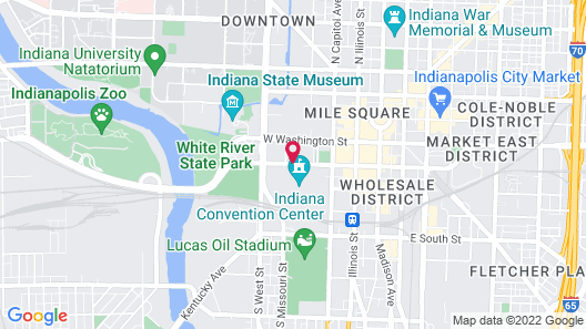 Marriott Indianapolis Downtown Map