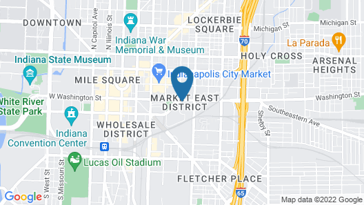 Best Western Plus Indianapolis Downtown Map