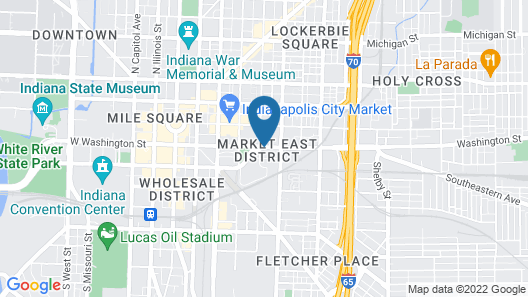 La Quinta Inn & Suites by Wyndham Indianapolis Downtown Map