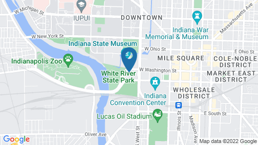 SpringHill Suites by Marriott Indianapolis Downtown Map