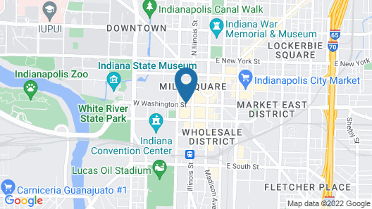 Embassy Suites Indianapolis Downtown Map