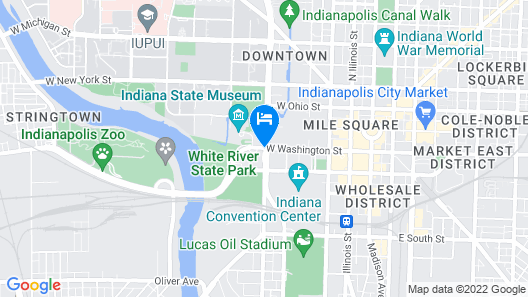 Courtyard by Marriott Indianapolis Downtown Map
