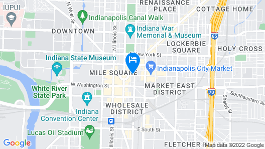 Hilton Garden Inn Indianapolis Downtown Map